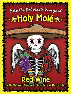 Have you tried our Holy Molé Red Wine yet? It is infused with almond, chocolate and red chile. This tasting room favorite flies off the shelves. Chilean Wine, Travel New Mexico, Wine Tasting Room, Wines, Red Wine, Vineyard, Almond Chocolate, Razzle Dazzle, Drink