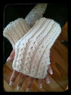 Ojete burlarse de Cable patrón de guantes sin dedos