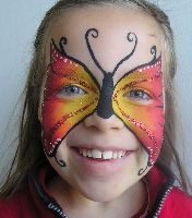Face Paint Butterfly Ansigtsmaling Sommerfugl Nicoline Louise Roos
