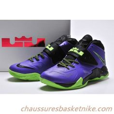 sneakers for cheap 370d1 6cb32 Nike Zoom Soldier VII Cour Violet   Plan-Flash Lime. chaussures basket