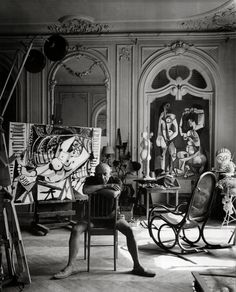 Pablo Picasso photographed by Arnold Newman (1956)