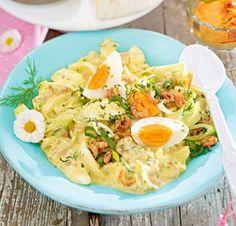 Das Rezept für Curry-Eiersalat mit Krabben und weitere kostenlose Rezepte auf LECKER.de