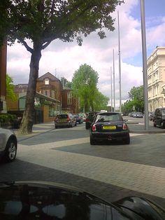 Exhibition Road facing Hyde Park.