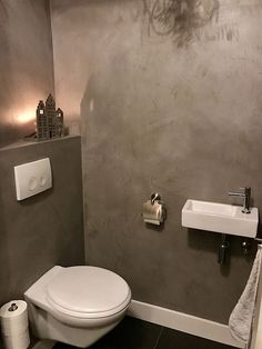 5 Great Ideas for Your Bathroom - My Romodel Small Toilet Room, Guest Toilet, Downstairs Toilet, New Toilet, Small Bathroom, Bathroom Ideas, Tiny Powder Rooms, Modern Toilet, Small Space Interior Design