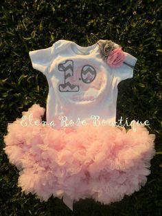 Pink and grey chevron elephant birthday onesie - 1st birthday outfit custom birthday onesie - light pink petti skirt - 2nd birthday outfit