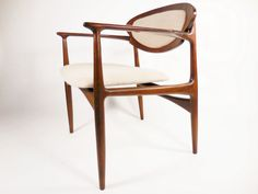 Awesome Danish chair with newly reupholstered bent plywood seat and back. This chair is wider than the average Danish arm chair and is very