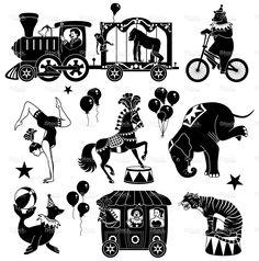 circus characters stock vector art 18985148 - iStock