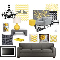 Yellow and Grey chevron! Lovin it!