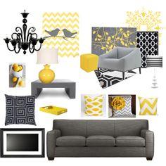 Yellow and Grey chevron! Lovin it!