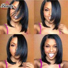 105.18$  Watch here - http://alixoc.worldwells.pw/go.php?t=32706379785 - 150 Density Human Hair Full Lace Wigs Short Bob Lace Front Human Hair Wigs For black women Brazilian Straight Human Hair Bob Wig