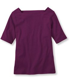 Bean's Interlock Square Boatneck Pullover: Tees and Knit Tops | Free Shipping at L.L.Bean