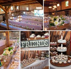 Kira + Mike - Honsberger Estate Wedding Reception in Barn - Floral Decor