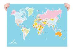 Karte und Vögel großes Poster von JudyKaufmann auf Etsy