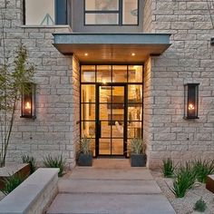 New Modern Glass Front Door Entrance House Ideas Iron Front Door, Modern Front Door, Front Door Entrance, Front Door Design, Glass Front Door, Front Entrances, House Entrance, Entry Doors, Front Doors
