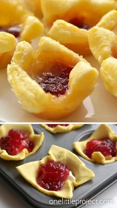 Brie Bites, Best Appetizer Recipes, Yummy Appetizers, Cranberry Appetizer Recipes, Party Snacks For Adults Appetizers, Easy Party Snacks, Tropical Appetizers, Party Food Ideas, Bacon Wrapped Appetizers
