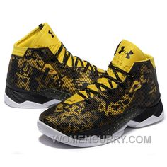 58c0bcf23606 Under Armour Stephen Curry 2.5 Black Yellow Basketball Shoes New Release