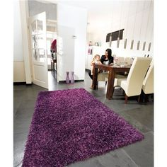 Tapis Violet  Beat Lounge Collection Tufté à la main