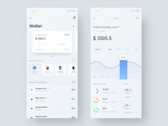 Finance &Wallet App designed by Hippie Mao. Connect with them on Dribbble; Mobile Ui Design, App Ui Design, Interface Design, Dashboard Design, Card Ui, Ui Design Inspiration, Sketch Inspiration, Apps, Mobile App Ui