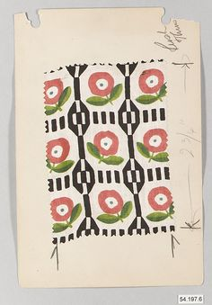 Various Unknown Designers  Manufacturer: Wiener Werkstätte Date: early 20th Century Culture: Austrian Medium: Silk Dimensions: Greatest: H. 4-1/2, W. 7 inches (11.4 x 17.8 cm.) Classification: Textiles Credit Line: Rogers Fund, 1954