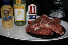 A1/Dijon Crock Pot Steak