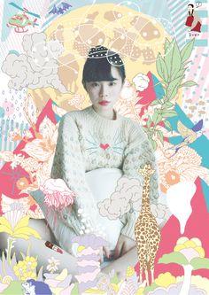motograph | 森 俊博 Toshihiro Mori Design Girl, Book Design, Photo Illustration, Graphic Design Illustration, The Tatami Galaxy, Japan Graphic Design, Collage Book, Draw On Photos, Photocollage