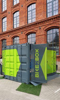 Container shipping design / Projekt kontener na rowery , zaprojektowany dla firmy bike2box w ramach Łódź Design Festival project: Piotr Płóceinnik Photo: Piotr Płóciennik