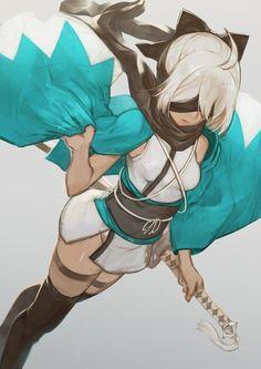 as Sakura Saber Female Character Design, Character Concept, Character Art, Fantasy Characters, Female Characters, Anime Characters, Persona Anime, Drakengard Nier, Neir Automata