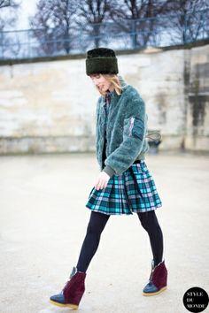 STYLE DU MONDE / Paris Fashion Week FW 2014 Street Style: Anya Ziourova  // #Fashion, #FashionBlog, #FashionBlogger, #Ootd, #OutfitOfTheDay, #StreetStyle, #Style