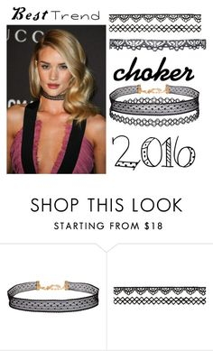 """""""The best trend of 2016:choker♥"""" by jovanaa-bogdanovic ❤ liked on Polyvore featuring Humble Chic"""