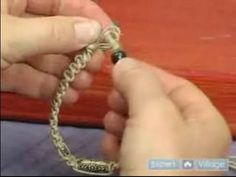 How to Make Hemp Jewelry : Ending Off a Square Knot Hemp Bracelet