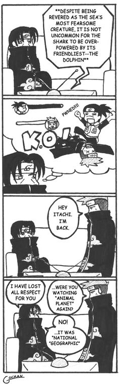 So funny. Itachi, Iruka, and Kisame from Naruto.