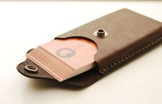 Handmade Leather Business Card Holder With by EchoSix on Etsy by abigail