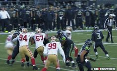"""NFL's Dean Blandino: Roughing penalty against 49ers was incorrect Monday's health and safety news from the world of football:  * NFL vice president of officiating Dean Blandino told """"NFL AM"""" on Monday morning that the second-half roughing penalty against San Francisco 49ers linebacker Nick Moody on Seattle Seahawks quarterback Russell Wilson was an incorrect call.   """"In looking at it, it was not (the correct call),"""" Blandino said. """"The rule protects a passer from two types of hits: Hits to…"""