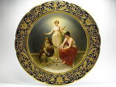 """Dresden A. Lamm希臘神話故事 """"命運三女神"""" 盤 after Friedrich Paul Thumann @ 樂在瓷中 :: 痞客邦 PIXNET ::"""