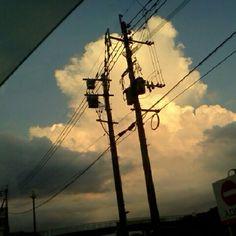 電柱#電線 Beautiful Sky, Beautiful World, Transmission Tower, Watercolor City, Kagerou Project, Power To The People, Sky And Clouds, Studio Ghibli, Monsoon