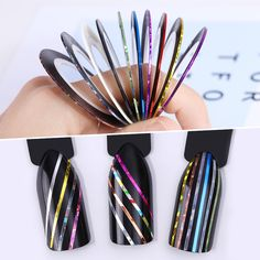 10 Rolls Line Nail Striping Tapes Sticker 1mm Adhesive Multi Color DIY Manicure Nail Art Styling Tools #Manicures Nail http://www.ku-ki-shop.com/shop/manicures-nail/10-rolls-line-nail-striping-tapes-sticker-1mm-adhesive-multi-color-diy-manicure-nail-art-styling-tools/