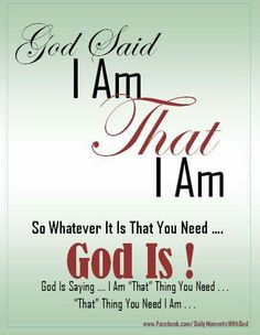 """Whatever you need """"God """" is!"""