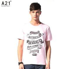 A21 Brand Mens Short Sleeve T-Shirt - FixShippingFee- - TopBuy.com.au