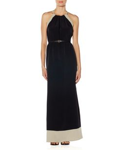 Love this belted Colorblock Maxi Dress- and the back is super cute, too!