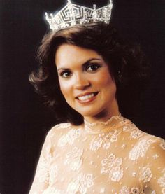 Miss America 1982  Then: Elizabeth Ward reportedly wore a gown made from a tablecloth and used her pageant money to study acting. Description from pinterest.com. I searched for this on bing.com/images