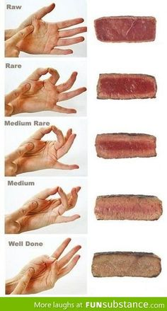 How to tell the consistency of your steak with your hands