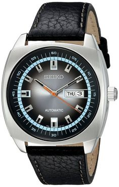 € 145 Seiko Recraft Series Automatic Watch with 43.5mm Case, Black Leather Strap SNKN01