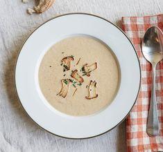 Pilz Suppe mit Safran – Rezept von Henry Levy  – Globus Fall Recipes, Wine Recipes, Plates, Tableware, Kitchen, Chowders, Soups, Autumn, Saffron Recipes