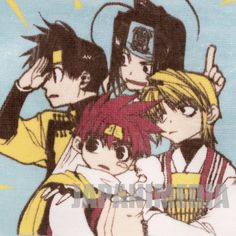 SAIYUKI Sanzo Gokou Gojyo Hakkai Hand Towel movic JAPAN ANIME #movic