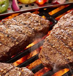 Recipe for Grilled Spice Rubbed New York Strip Steak - Grilling up a juicy steak couldn't get any easier or more flavorful! This is how we always make them at our house, and everyone loves them.