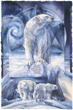 Bergsma Gallery Press :: Paintings :: Natural Elements :: Wild Land Animals :: Bears :: In Following Dreams, Destiny Is Found - Prints