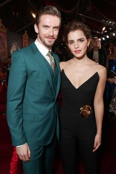 Dan Stevens and Emma Watson attend the premiere of <em>Beauty And The Beast</em> at El Capitan Theatre, Los Angeles, March 2, 2017. By Todd Williamson/Getty Images.
