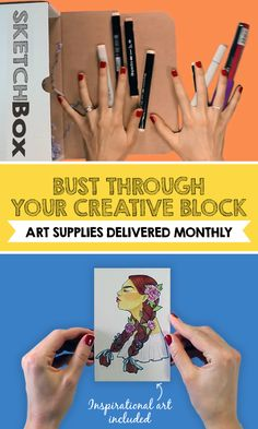Join the hundreds who've subscribed to SketchBox and get inspired with unique art supplies delivered to your door. Each box comes with a group of hand-selected art supplies, and one piece of art to inspire you. Choose your box and subscribe today at getsketchbox.com