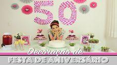 DIY: DECORAÇÃO de FESTA de ANIVERSÁRIO GASTANDO POUCO! Paula Stephânia Paula Stephania, Board Stand, Fiesta Party, Easy Diy Crafts, Diy Party, Party Time, Birthday Cake, Baby Shower, Crafty