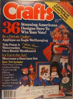 https://flic.kr/p/vJ7Uv5 | Crafts July 1984 | $6.00 each plus Shipping.